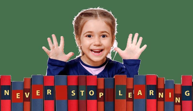 dziecko które uczy się języka angielskiego